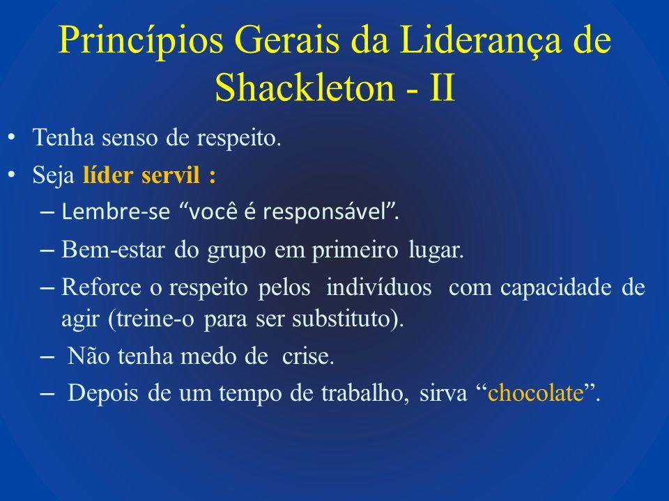 Princípios Gerais da Liderança de Shackleton - II