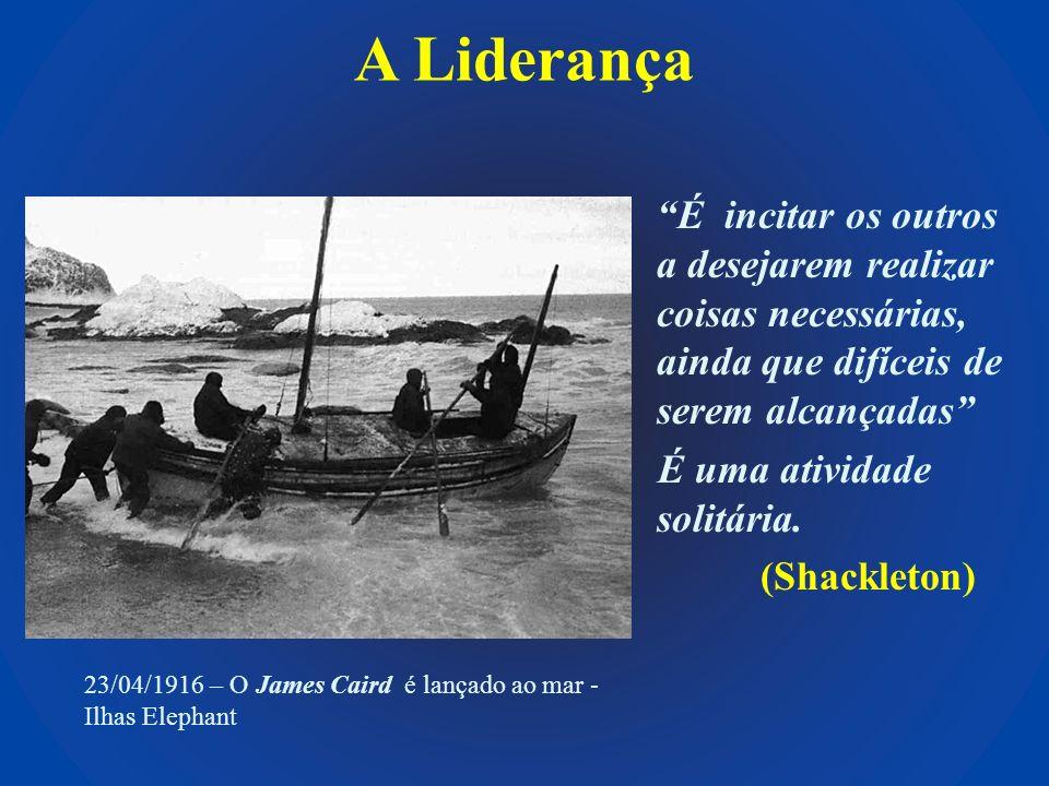 A Liderança É incitar os outros a desejarem realizar coisas necessárias, ainda que difíceis de serem alcançadas