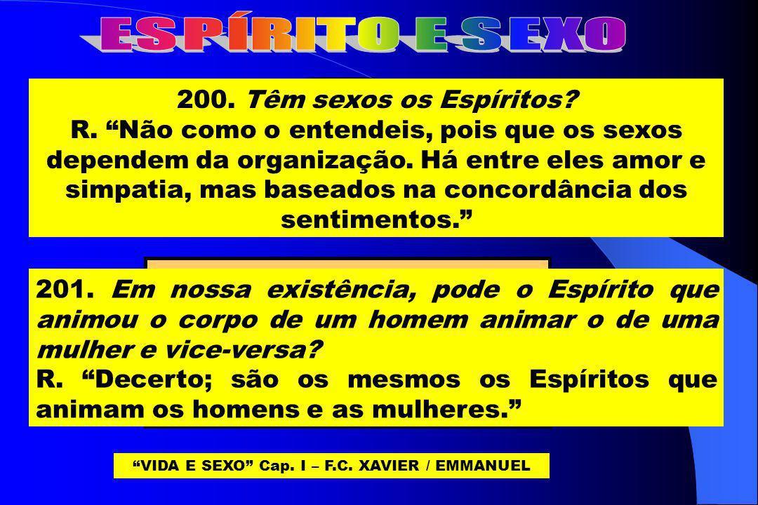 VIDA E SEXO Cap. I – F.C. XAVIER / EMMANUEL