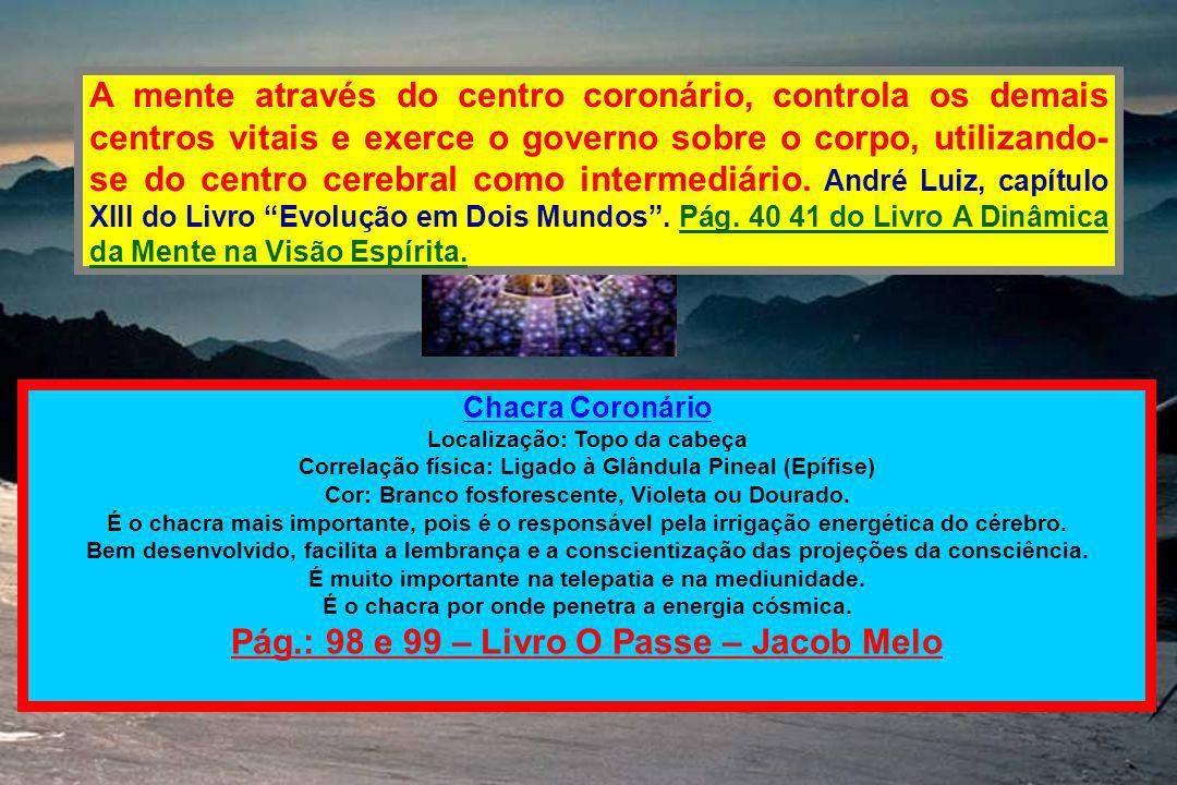 Pág.: 98 e 99 – Livro O Passe – Jacob Melo