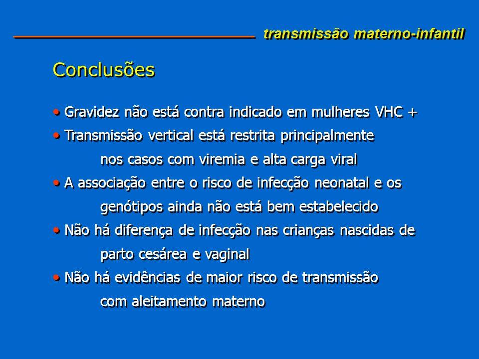 Conclusões transmissão materno-infantil