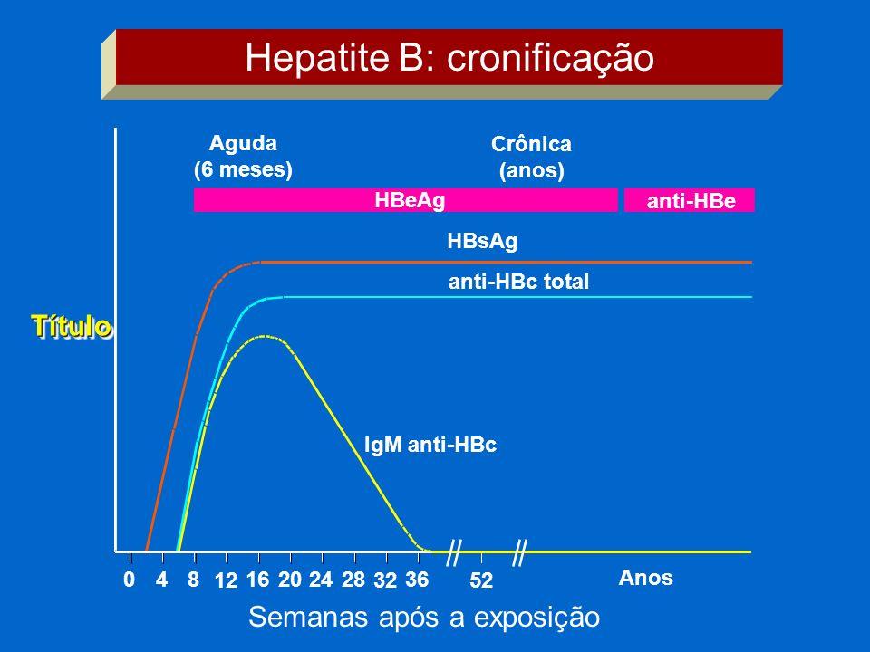 Hepatite B: cronificação