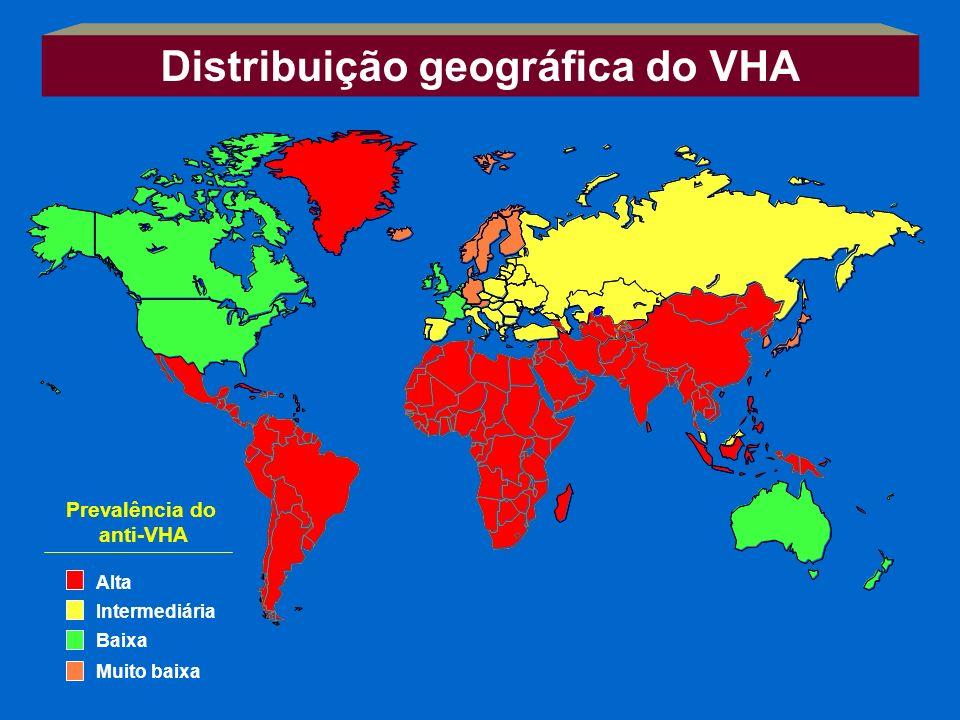 Distribuição geográfica do VHA