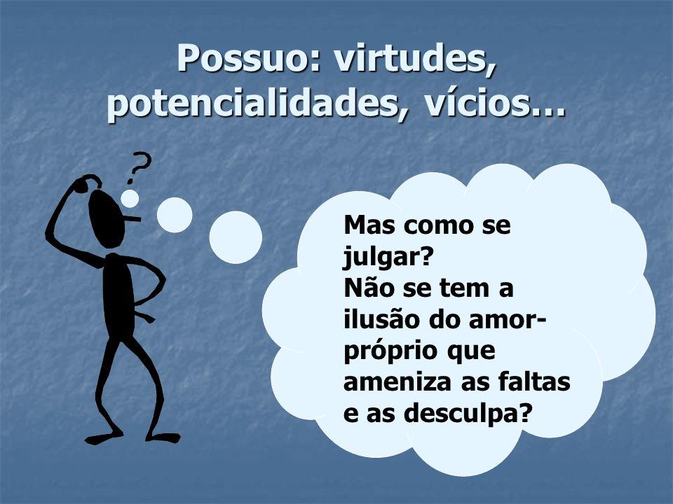 Possuo: virtudes, potencialidades, vícios…