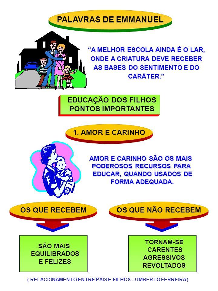 PALAVRAS DE EMMANUEL EDUCAÇÃO DOS FILHOS PONTOS IMPORTANTES