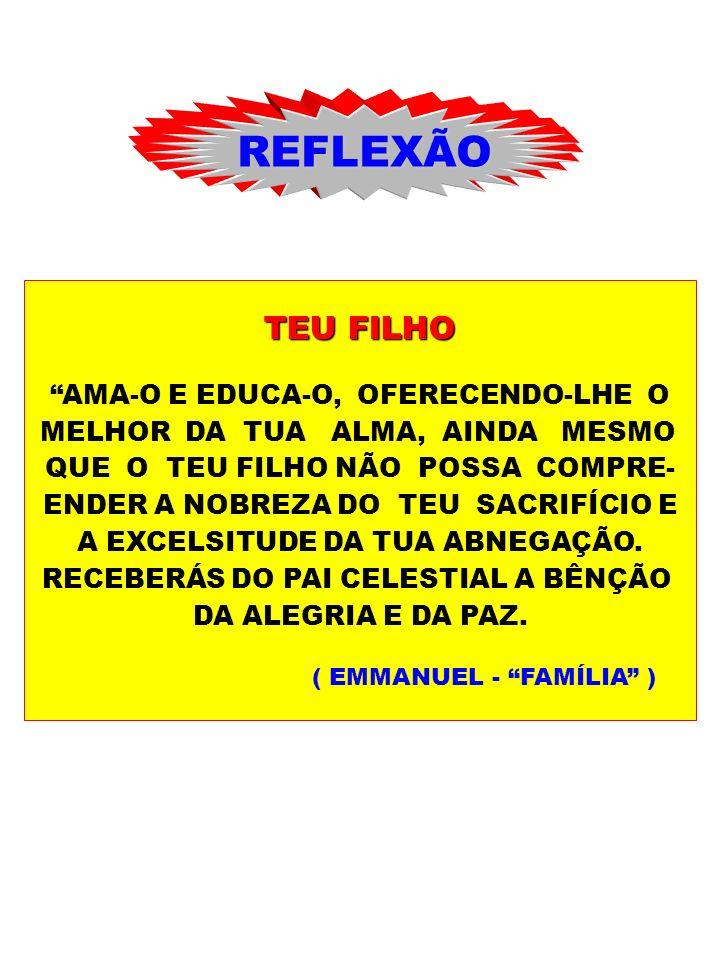 REFLEXÃO TEU FILHO AMA-O E EDUCA-O, OFERECENDO-LHE O