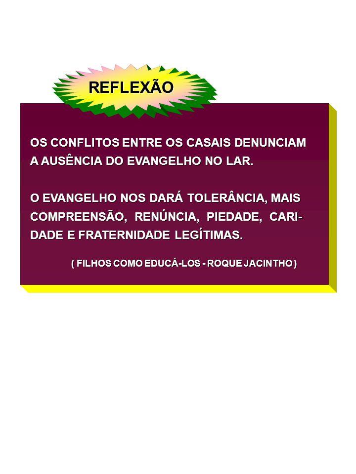 REFLEXÃO OS CONFLITOS ENTRE OS CASAIS DENUNCIAM