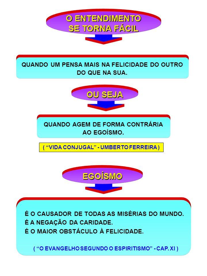 O ENTENDIMENTO SE TORNA FÁCIL OU SEJA EGOÍSMO