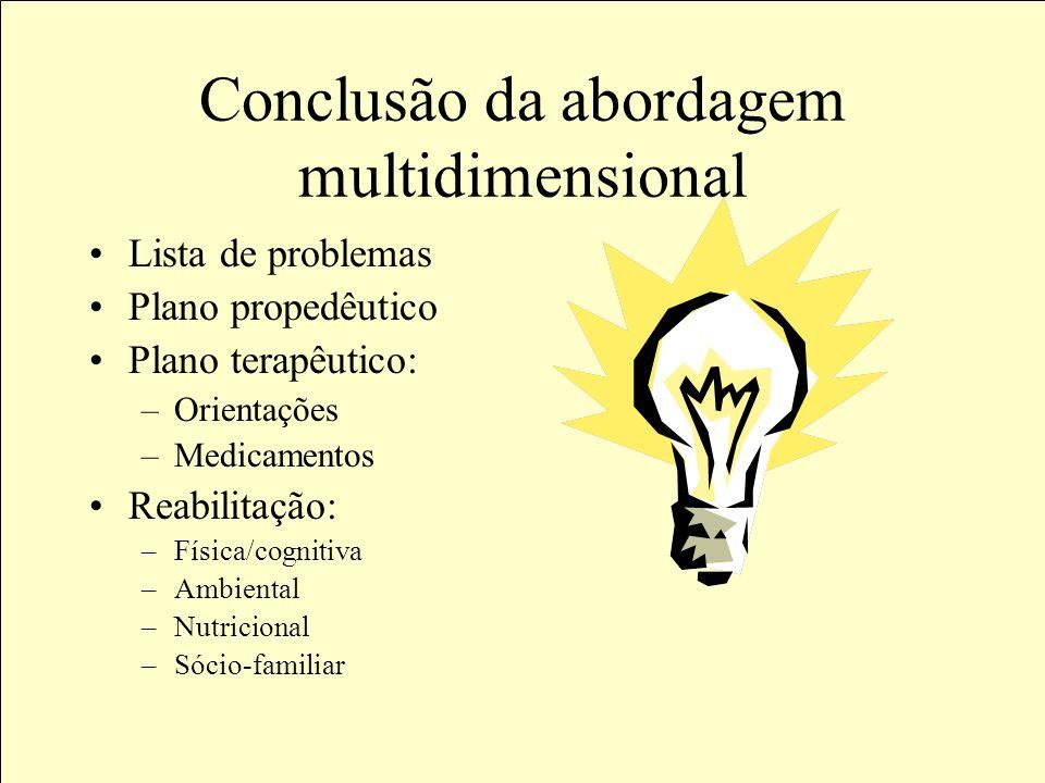 Conclusão da abordagem multidimensional