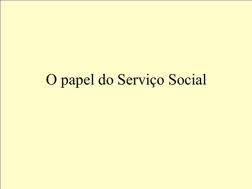 O papel do Serviço Social