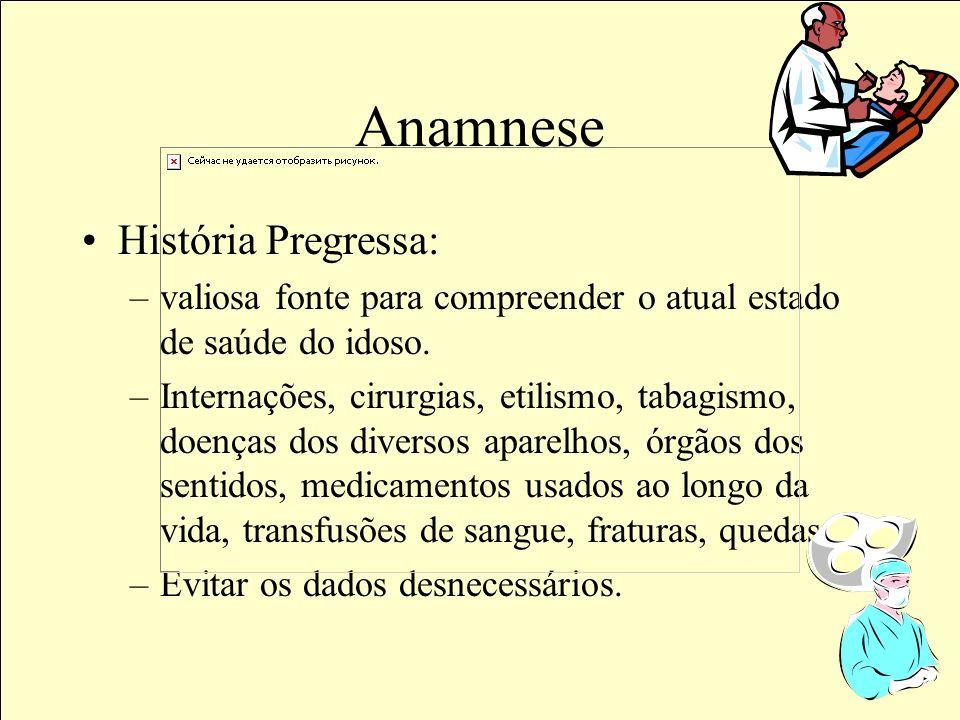 Anamnese História Pregressa: