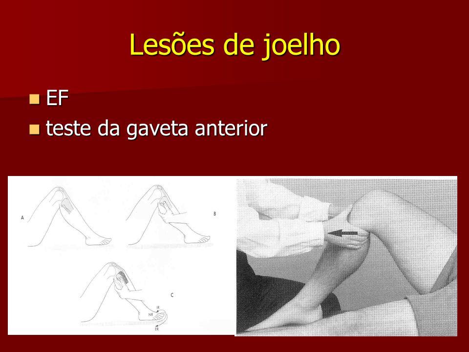 Lesões de joelho EF teste da gaveta anterior