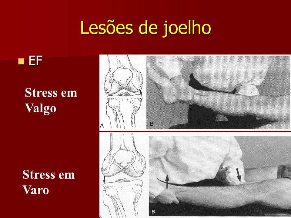 Lesões de joelho EF Stress em Valgo Stress em Varo