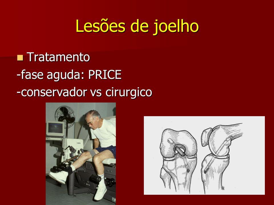Lesões de joelho Tratamento -fase aguda: PRICE