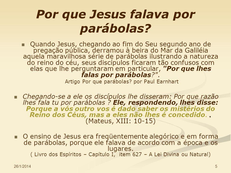 Por que Jesus falava por parábolas