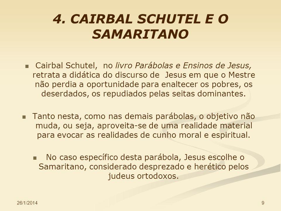 4. CAIRBAL SCHUTEL E O SAMARITANO