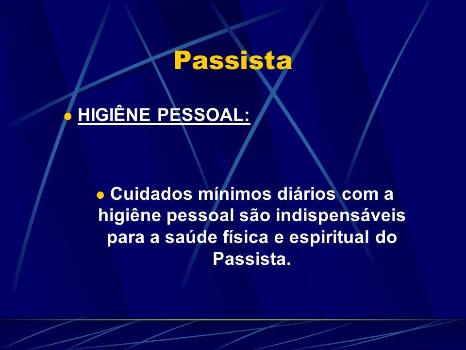 Passista HIGIÊNE PESSOAL: