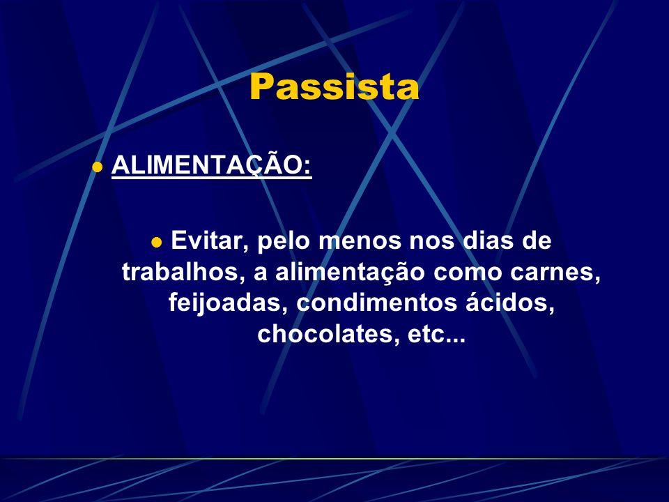 Passista ALIMENTAÇÃO: