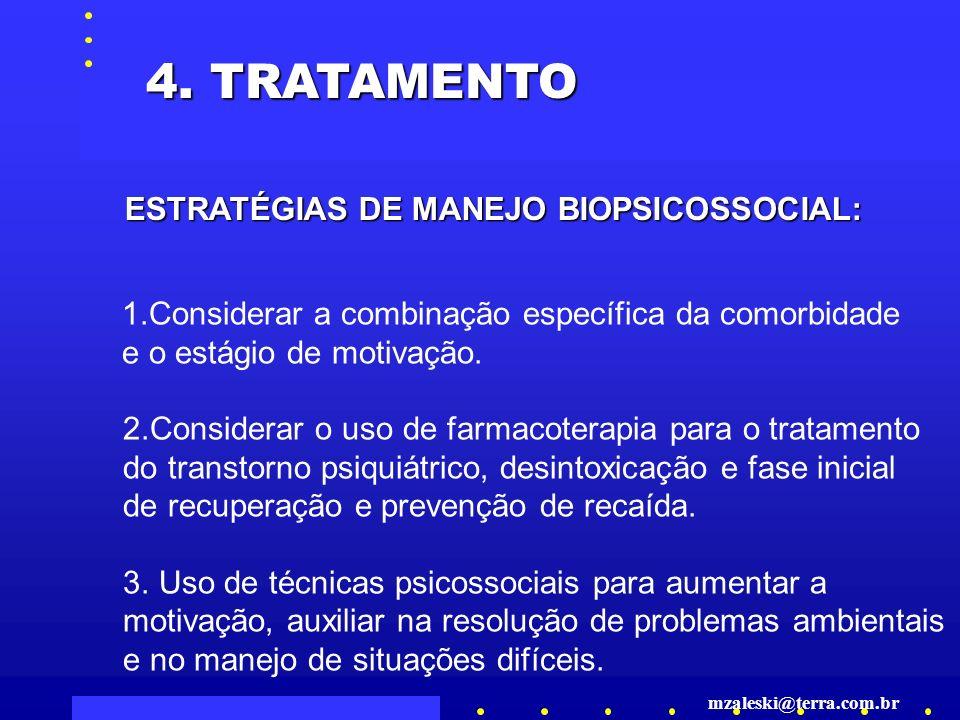 4. TRATAMENTO ESTRATÉGIAS DE MANEJO BIOPSICOSSOCIAL: