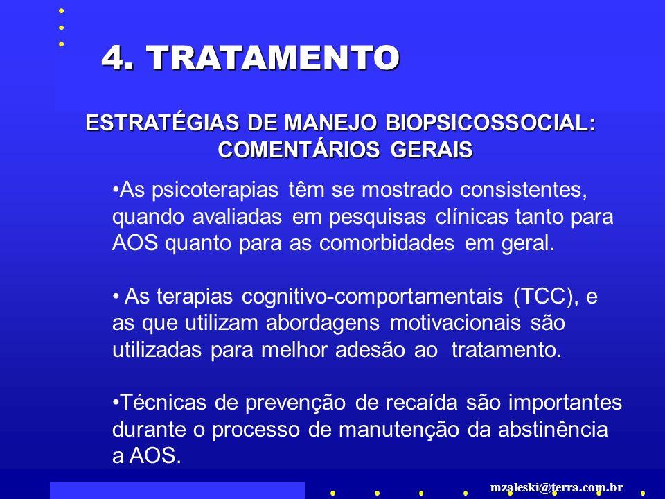 ESTRATÉGIAS DE MANEJO BIOPSICOSSOCIAL:
