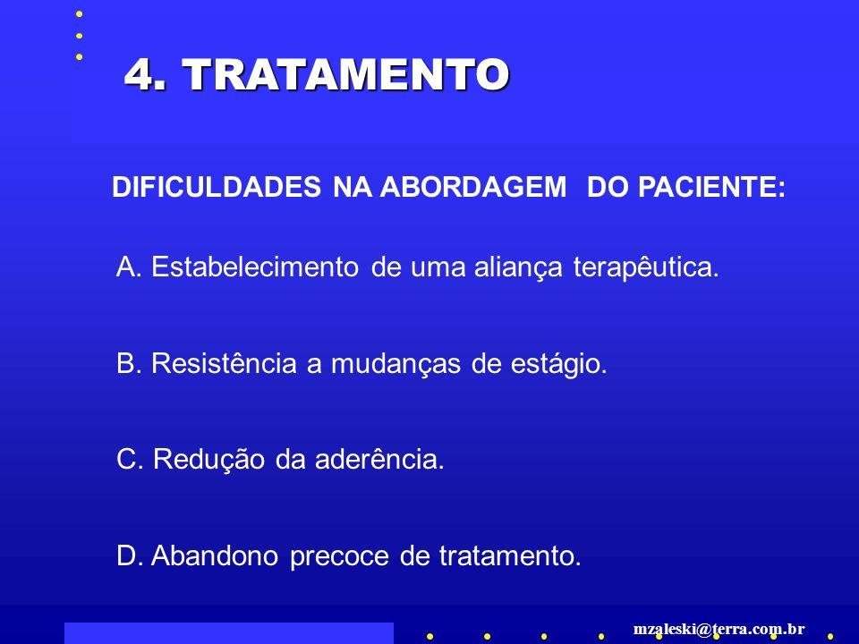 4. TRATAMENTO DIFICULDADES NA ABORDAGEM DO PACIENTE: