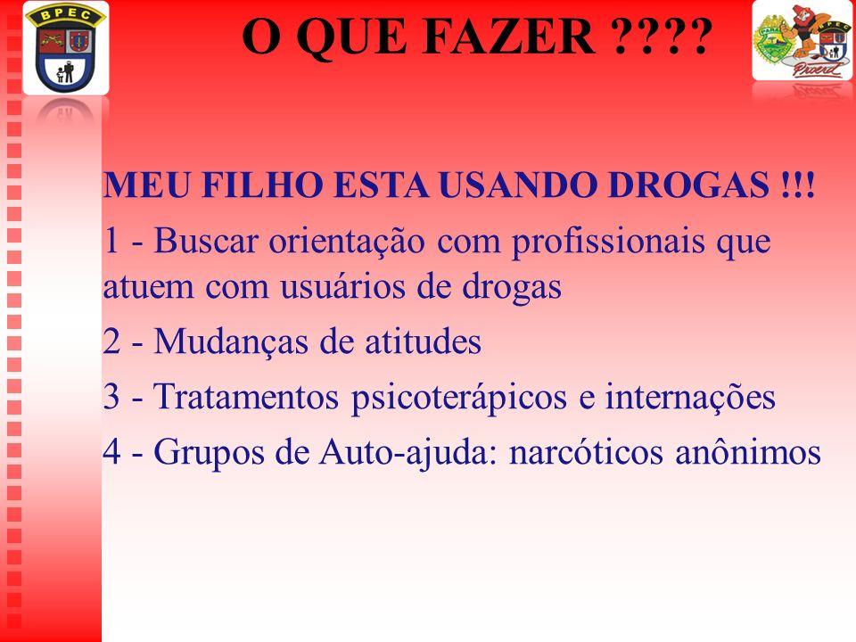 O QUE FAZER MEU FILHO ESTA USANDO DROGAS !!!