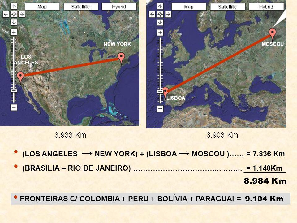 NEW YORK MOSCOU. LOS ANGELES. LISBOA. 3.933 Km. 3.903 Km. (LOS ANGELES → NEW YORK) + (LISBOA → MOSCOU )…… = 7.836 Km.
