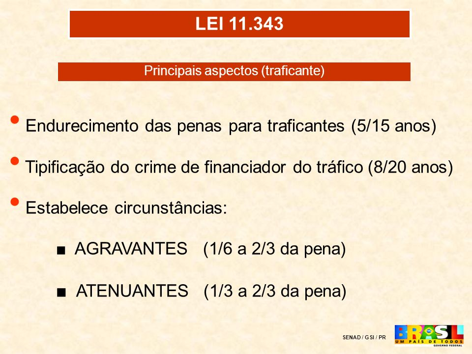 Principais aspectos (traficante)