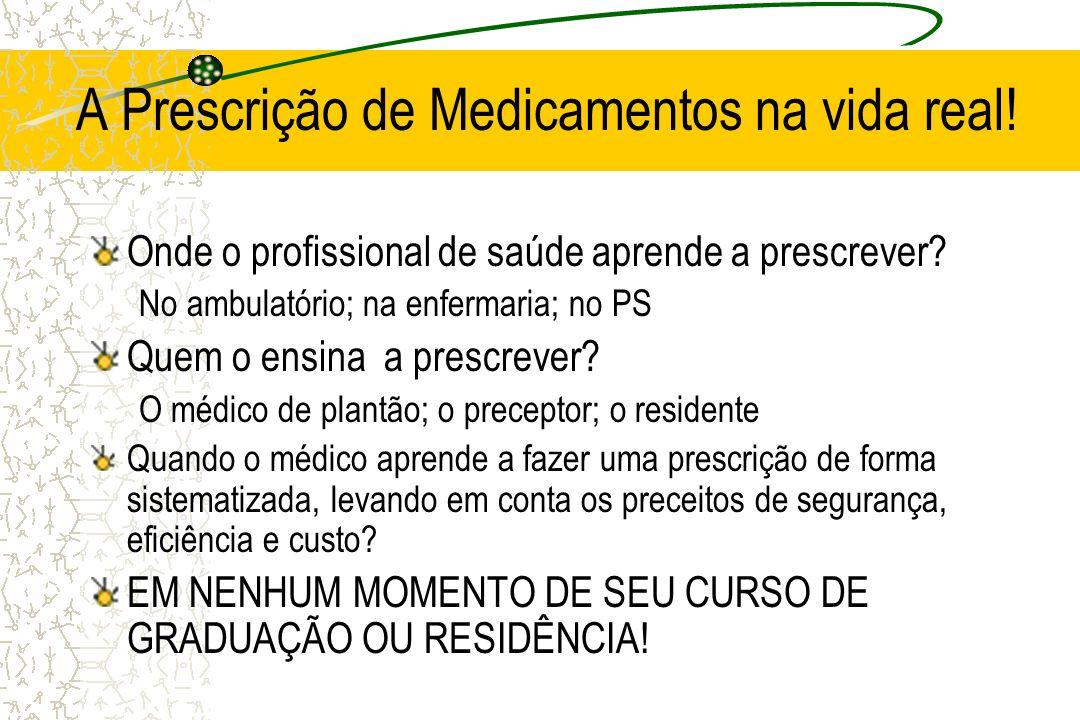 A Prescrição de Medicamentos na vida real!