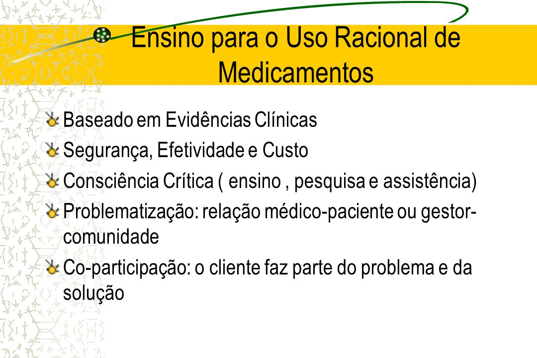 Ensino para o Uso Racional de Medicamentos