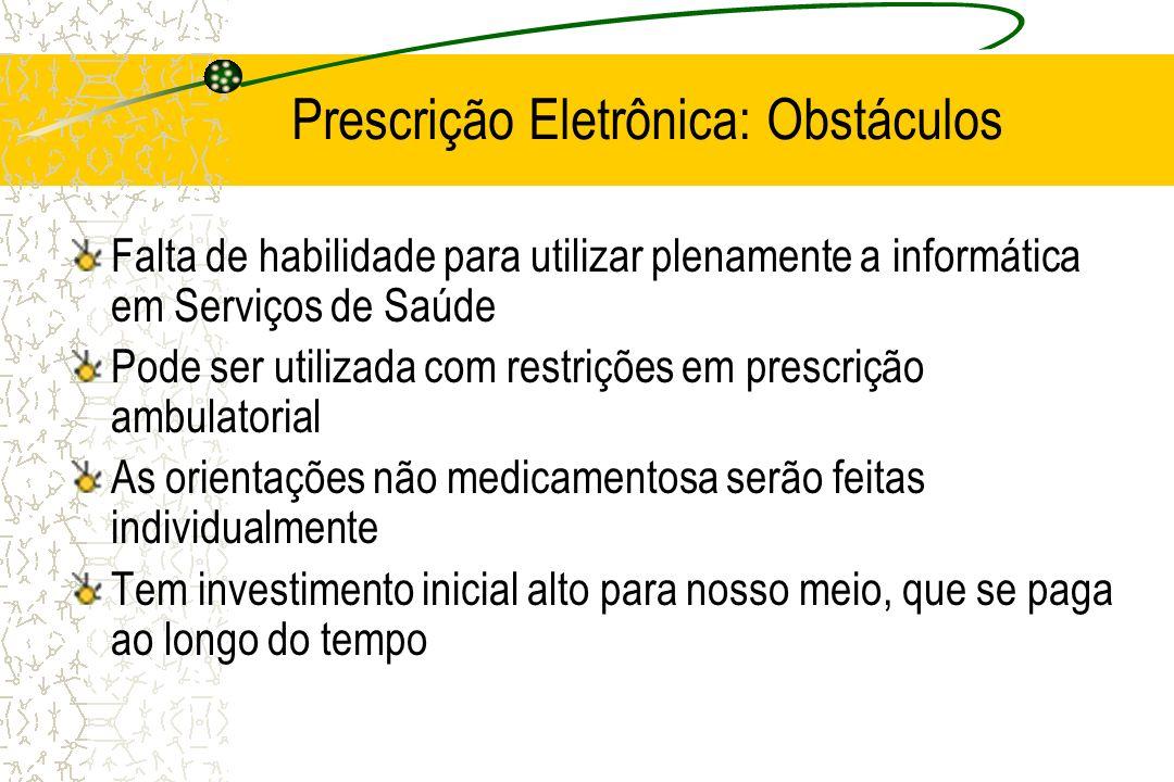 Prescrição Eletrônica: Obstáculos