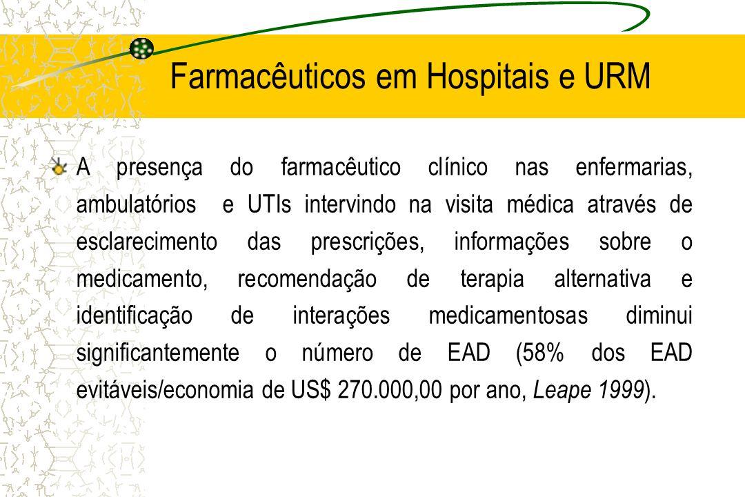 Farmacêuticos em Hospitais e URM