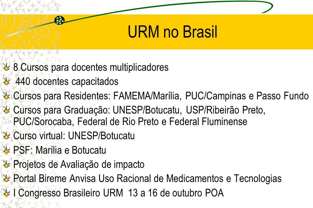 URM no Brasil 8 Cursos para docentes multiplicadores