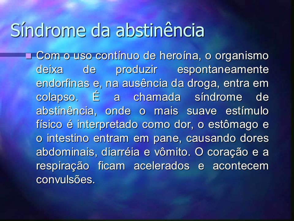 Síndrome da abstinência