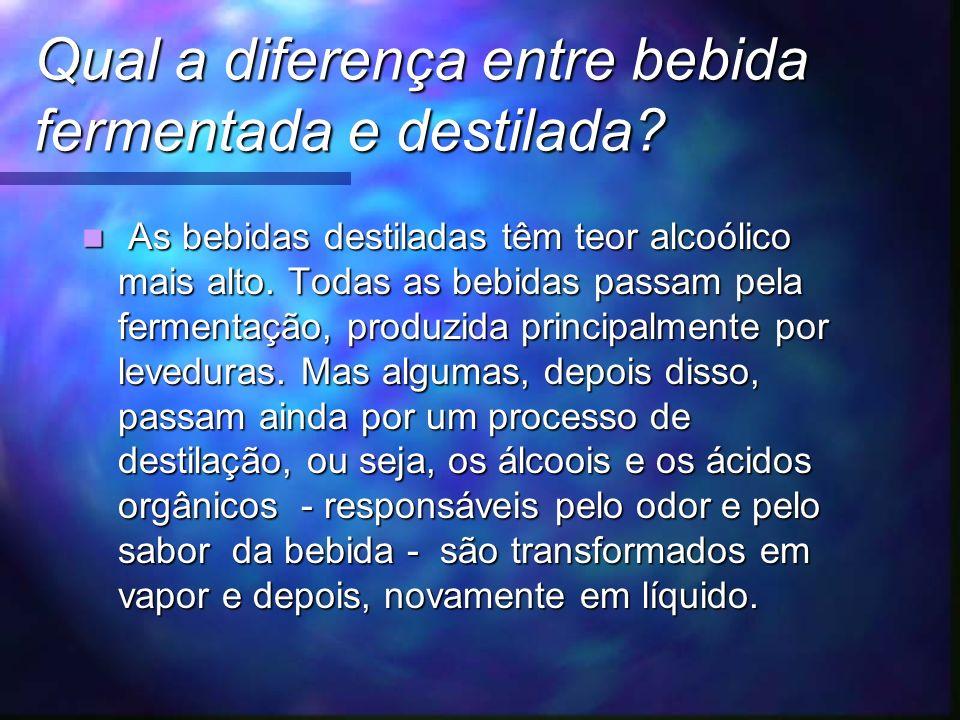 Qual a diferença entre bebida fermentada e destilada