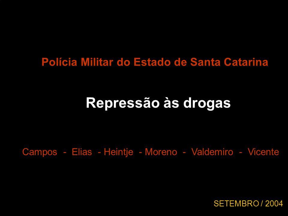 Repressão às drogas Polícia Militar do Estado de Santa Catarina