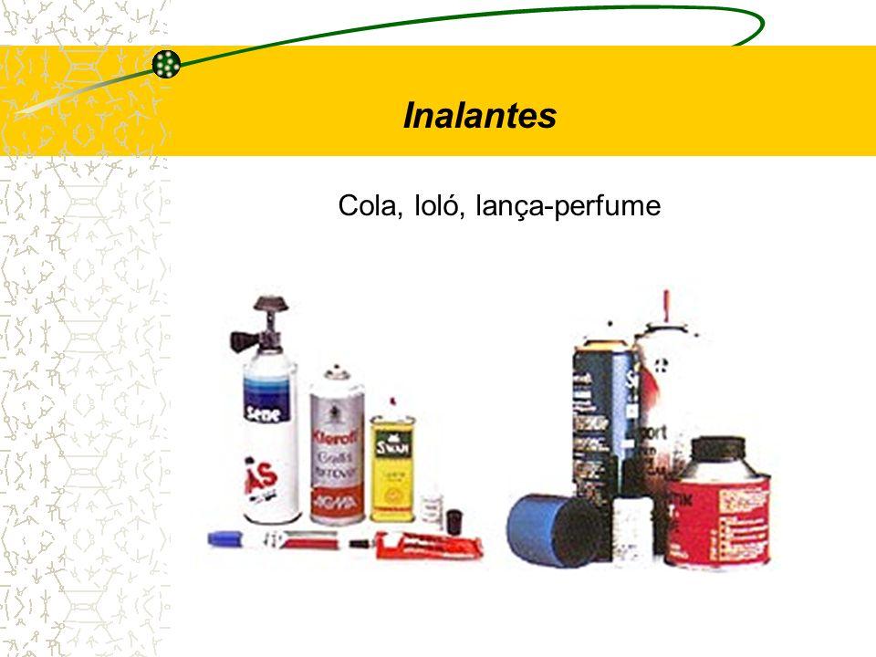 Inalantes Cola, loló, lança-perfume