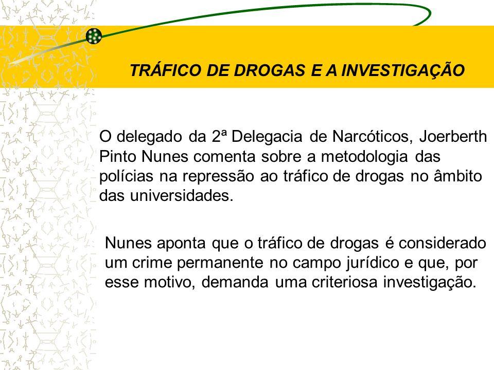 TRÁFICO DE DROGAS E A INVESTIGAÇÃO