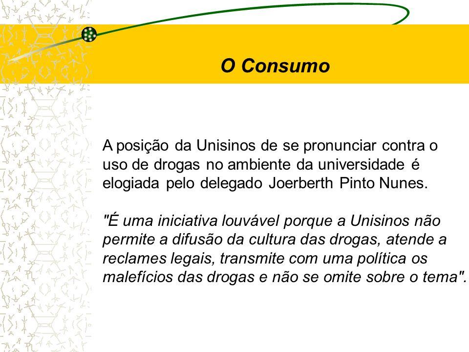 O Consumo A posição da Unisinos de se pronunciar contra o
