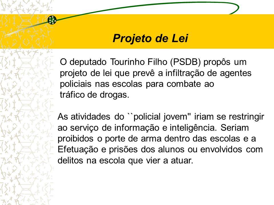 Projeto de Lei O deputado Tourinho Filho (PSDB) propôs um