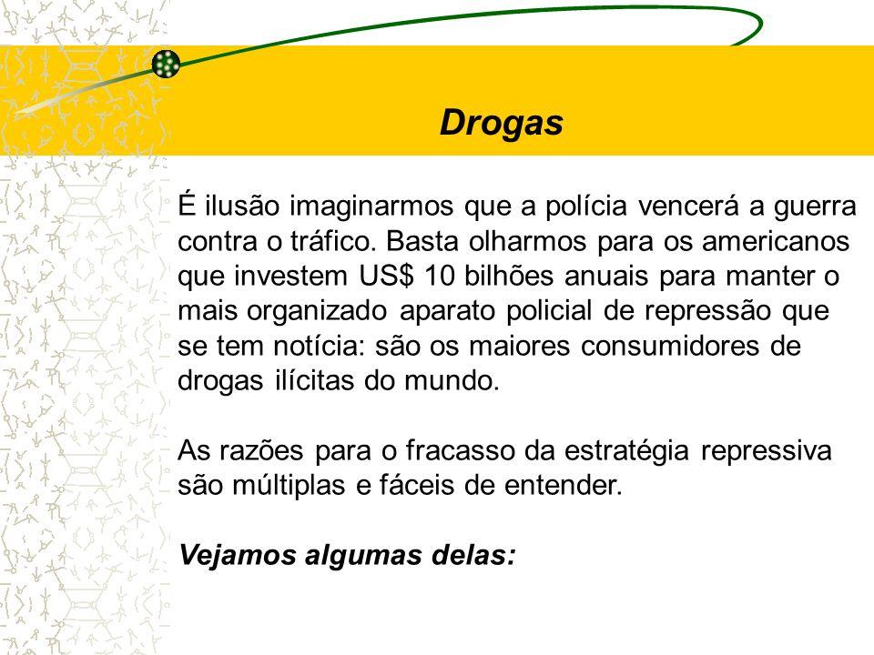 Drogas É ilusão imaginarmos que a polícia vencerá a guerra
