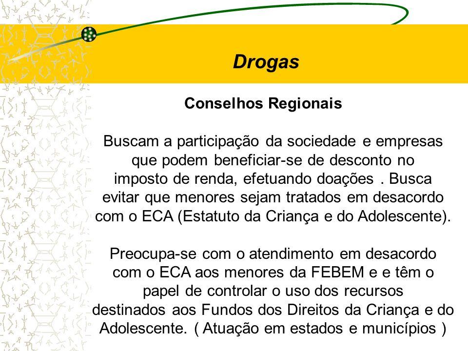 Drogas Conselhos Regionais