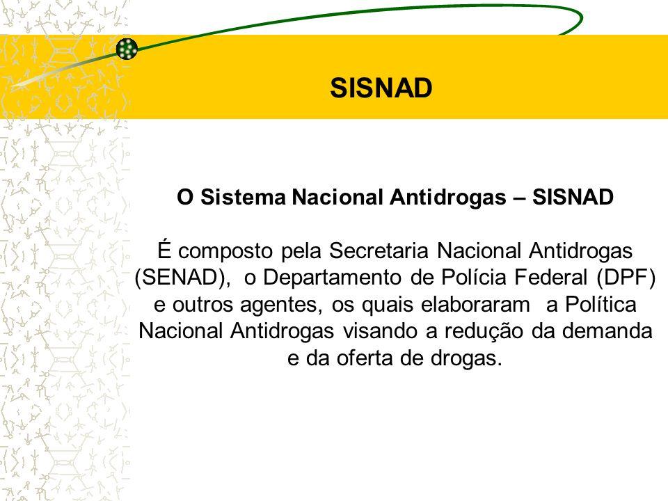 SISNAD O Sistema Nacional Antidrogas – SISNAD
