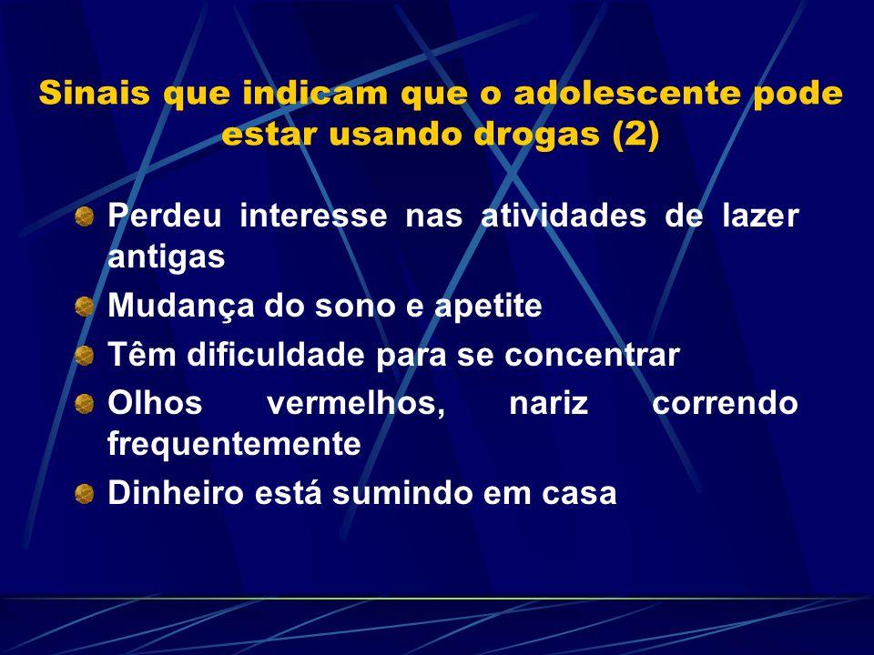 Sinais que indicam que o adolescente pode estar usando drogas (2)