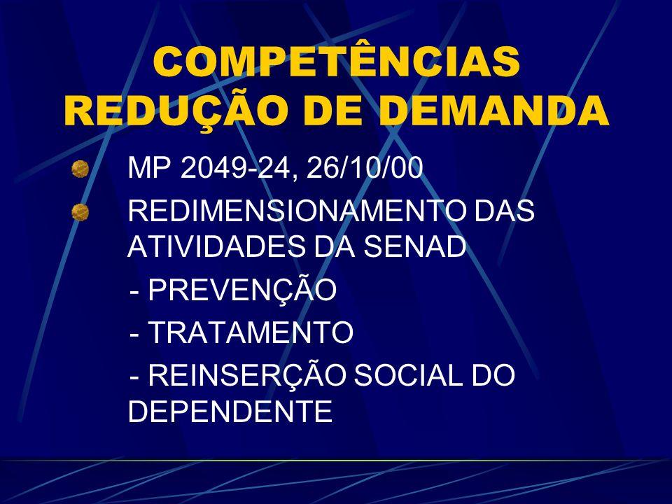 COMPETÊNCIAS REDUÇÃO DE DEMANDA