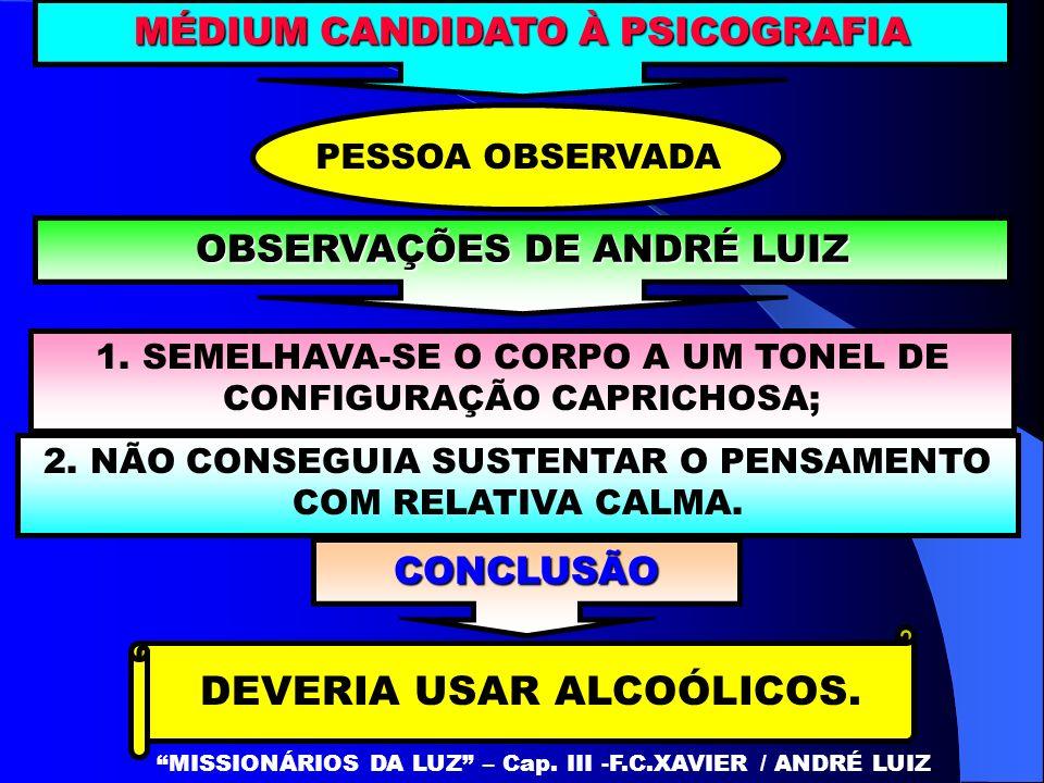 DEVERIA USAR ALCOÓLICOS.