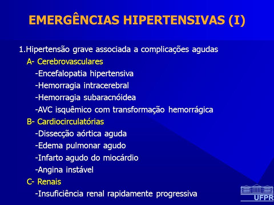 EMERGÊNCIAS HIPERTENSIVAS (I)