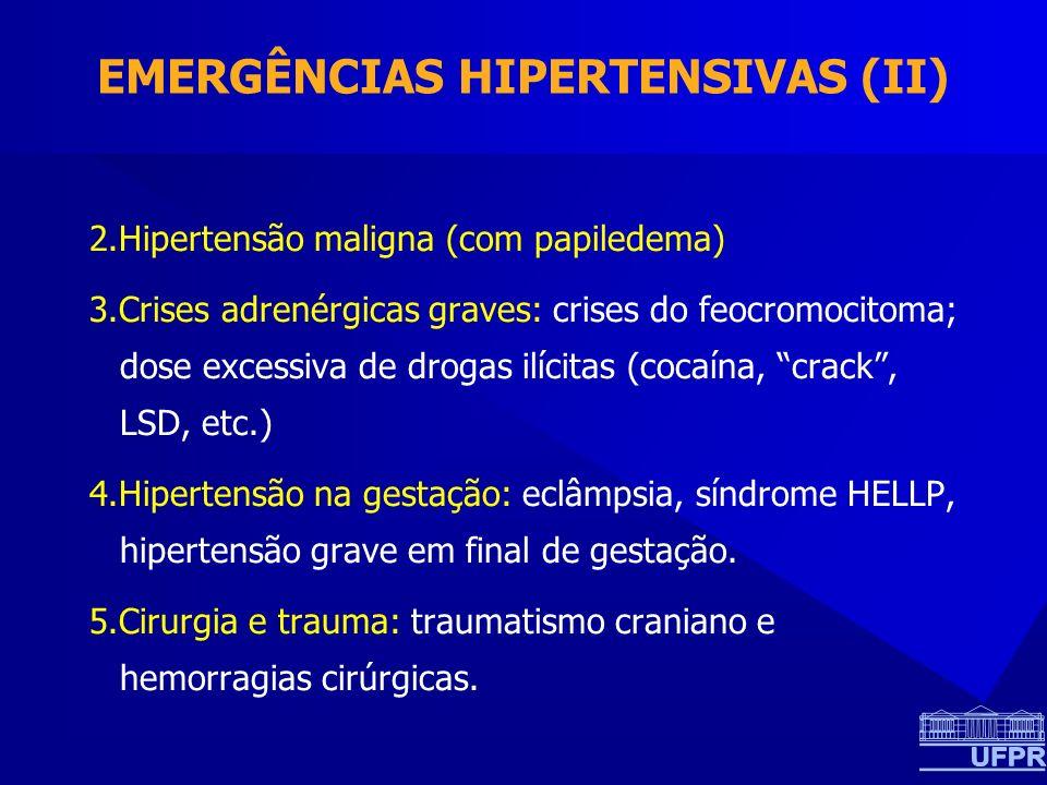 EMERGÊNCIAS HIPERTENSIVAS (II)