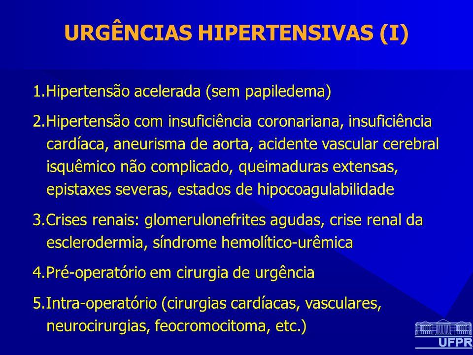 URGÊNCIAS HIPERTENSIVAS (I)