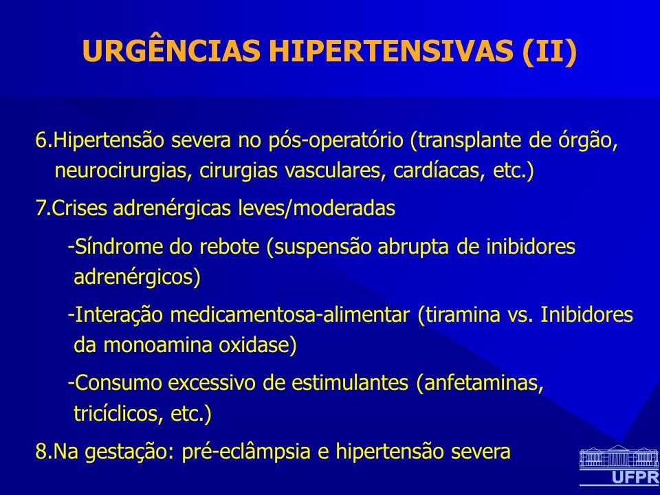 URGÊNCIAS HIPERTENSIVAS (II)